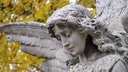 Engel auf Friedhof