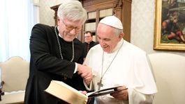 Heinrich Bedford-Strohm und Papst Franziskus
