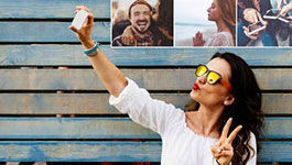 Cover Jugensstudie: Junge Frau mit Handy