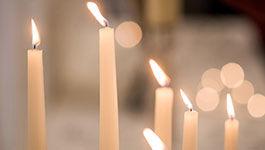 Brennende Kerzen