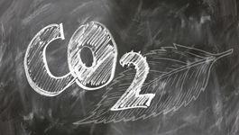 Schrift auf Tafel: CO2