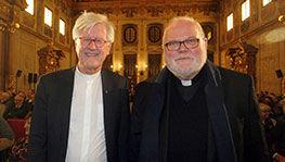Heinrich Bedford-Strohm und Kardinal Reinhard Marx im Goldenen Saal des Augsburger Rathauses