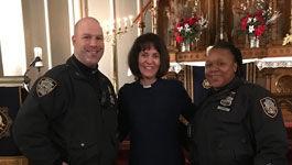 Miriam Groß ist seit 2014 Pfarrerin der deutschsprachigen Evangelisch-Lutherischen St.-Pauls-Kirche in New York. Sie ist auch als Polizeiseelsorgerin tätig.
