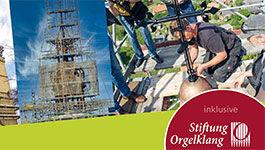 Ausschnitt aus dem Cover: Jahresbericht der Stiftung KiBa und Orgelklang
