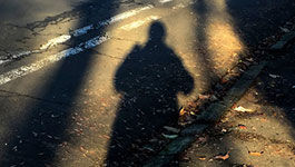 Schatten eines Menschen