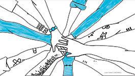 Ausschnitt Programm: ineinandergreifende Hände