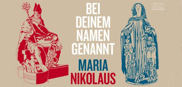 """Titelbild der Ausstellung """"Maria und NIkolaus"""""""