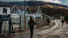 Flüchtlingslager an der Grenze in Bosnien Herzegowina