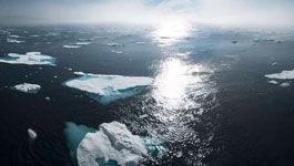 schwimmende Eisschollen
