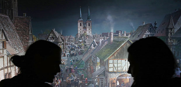 """Asisi-Panorama """"Luther 1517"""" in Wittenberg"""
