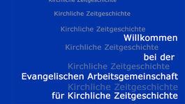 Schriftzug Ev. Arbeitsgemeinschaft für Kirchliche Zeitgeschichte