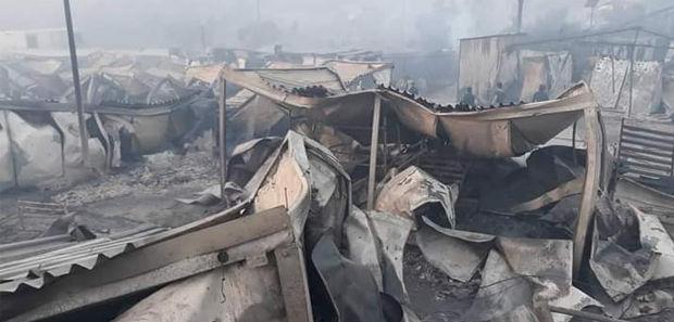 Moria-Brand: Nach dem verheerenden Feuer ist das Flüchtlingslager völlig niedergebrannt.