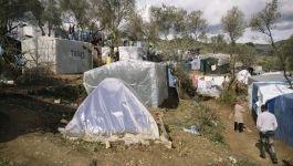 Flüchtlingslager auf der Insel Lesbos
