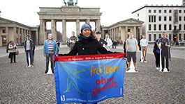 Demo vor dem Brandenburger Tor