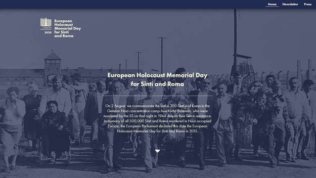 Screen European Holocaust Memorial Day for Sinti and Roma