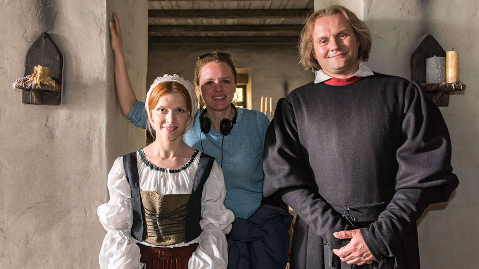 "Regisseurin Julia vom Heinz am Set von ""Katharina Luther"""