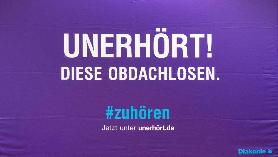"""Plakat zur Diakonie-Kampagne """"Unerhört!"""""""