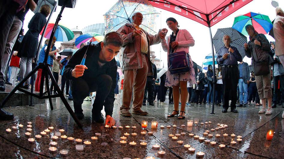 Trauerkundgebung für Susanna F. in Mainz