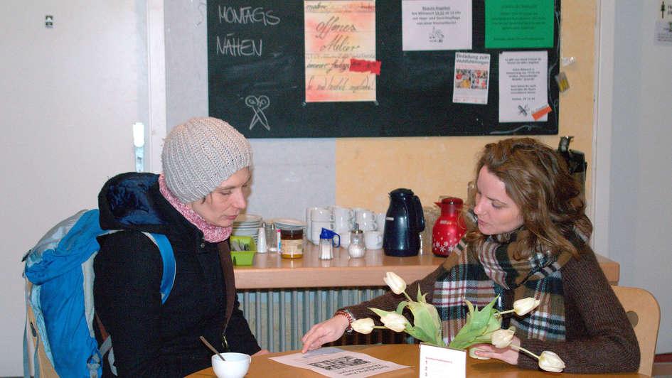 Beratungsgespräch im 'Frauenzimmer' Bremen