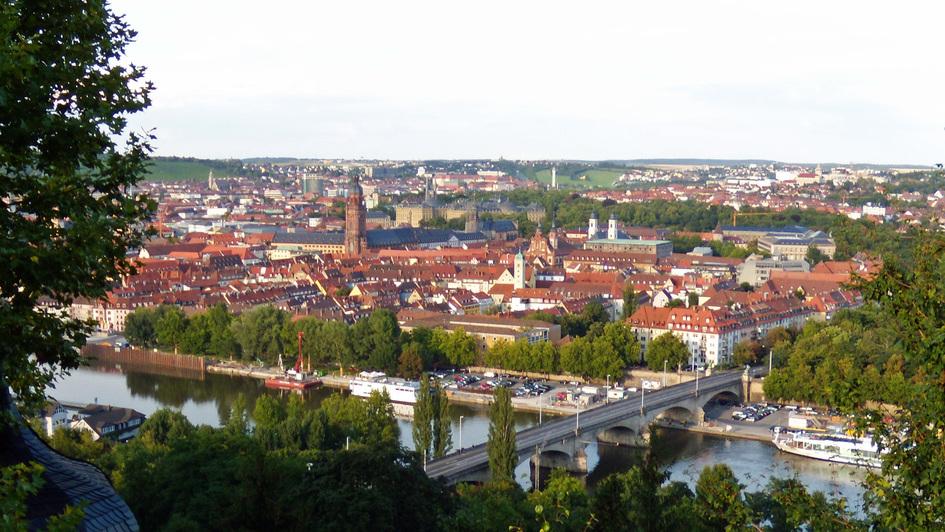 Blick auf Würzburg am Main
