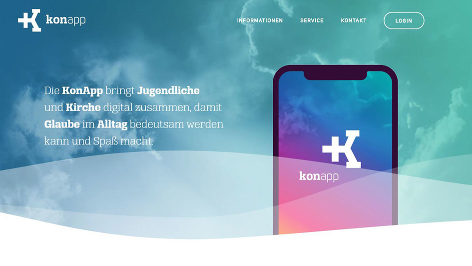 Screenshot: Webseite KonApp