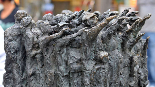 A sculpure in remembrance of the Barmen Declaration in Wuppertal-Barmen.