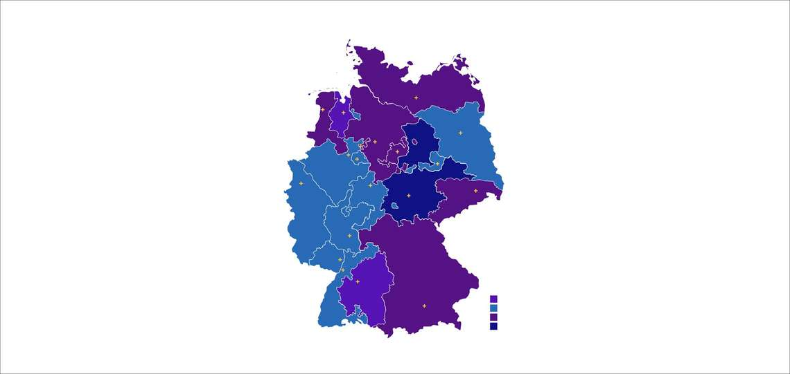 Map of the Regional Churches in germany.