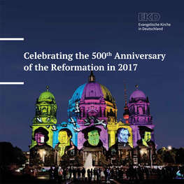 Cover 'Celebrating the 500th Anniversary of the Reformation in 2017'